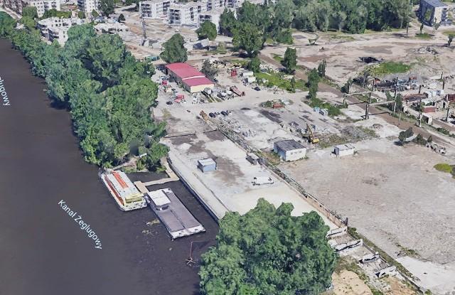 Droga rowerowa nie będzie wiodła wałem, lecz pomiędzy budynkami osiedla Olimpia Port