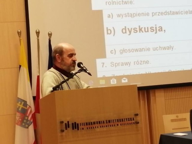 Mirosław Drab o swoich problemach z uzyskaniem zapłaty mówił miesiąc temu na sesji sejmiku województwa świętokrzyskiego.