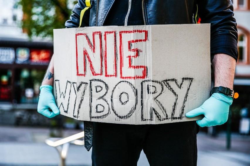 Protest Obywatelski przeciwko wyborom prezydenckim w formie korespondencyjnej w Sopocie