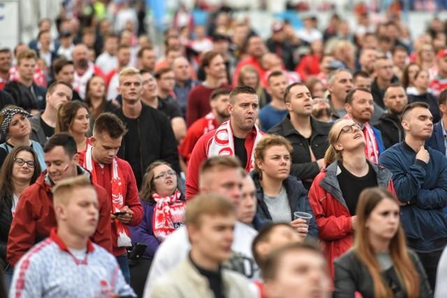 24.06.2018 poznan lg polska kolumbia strefa kibica mtp mundial moskwa 2018. glos wielkopolski. fot. lukasz gdak/polska press