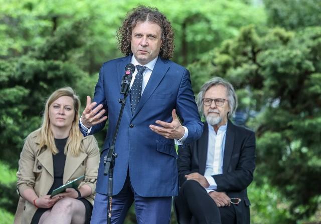 Konferencja prasowa prezydenta Sopotu Jacka Karnowskiego, w której wziął udział m.in. Jan A.P. Kaczmarek