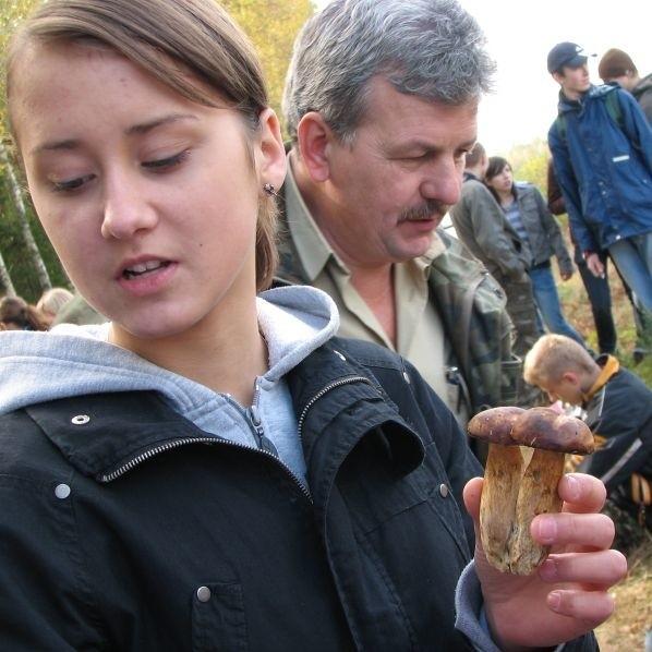Mistrzostwa w zbieraniu grzybów w lasach kolo Kleszczel