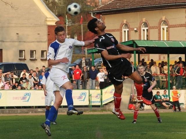 Adivano Nascimento zdobył głową pierwszego gola dla Druteksu-Bytovii.