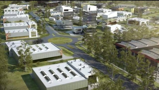 Tak ma wyglądać zabudowa terenów Kieleckiego Parku Technologicznego, w rejonie nowego ronda i przedłużenia ulicy Olszewskiego.