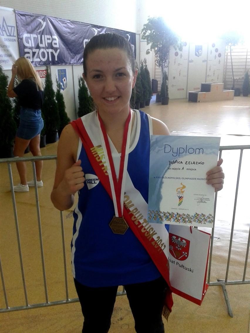 Jessica Żelazko w lipcu zdobyła złoty medal na Ogólnopolskiej Olimpiadzie Młodzieży w Pułtusku.