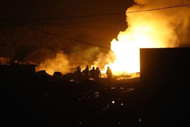 Pożar wysypiska w Siemianowicach Śląskim