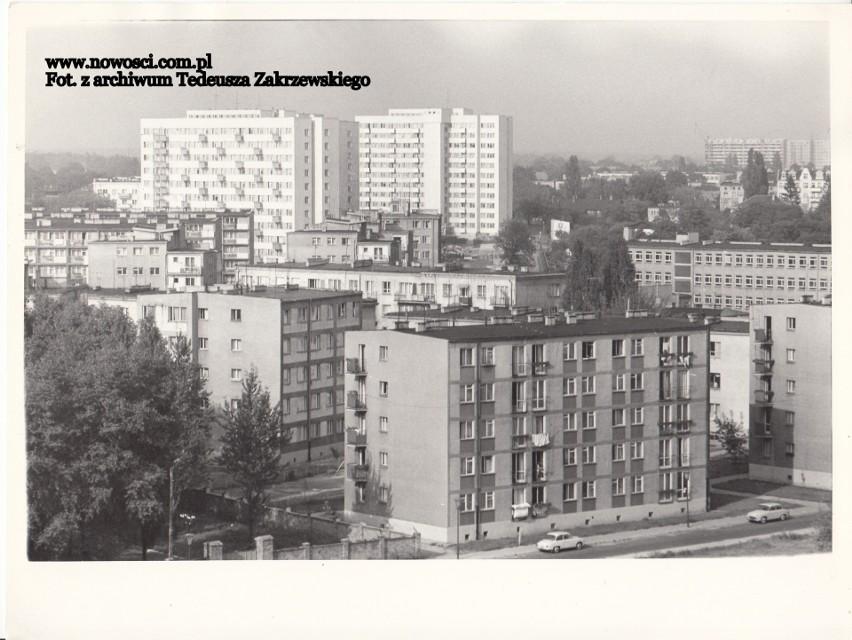 Wieżowce i bloki w rejonie Bema i Kraszewskiego.