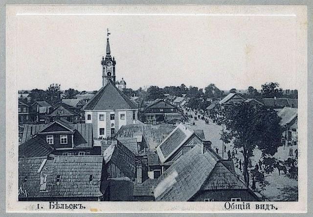 Panorama Bielska Podlaskiego, zdjęcie wykonane około 1910 roku