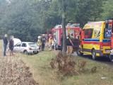 Gniezno: Dachowanie auta na trasie do Skorzęcina