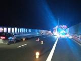 Zderzenie aut na A6 między Podjuchami a Kijewem. Kobieta w 8 miesiącu ciąży trafiła do szpitala