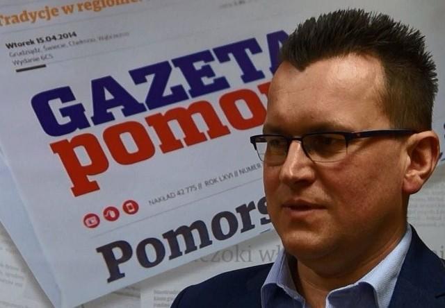 """Marcin Wroński, radny, szef ruchu """"Nowy Inowrocław""""."""