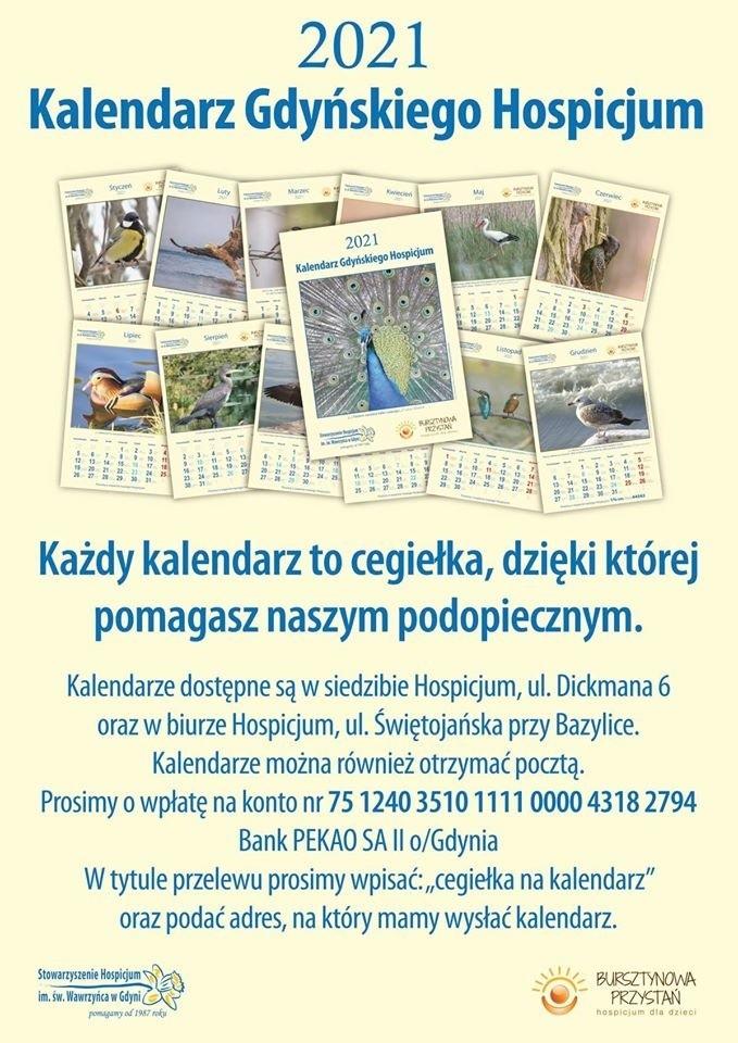 Gdynia. Potrzebna pomoc dla Hospicjum. Kalendarz na 2021 rok sprzedawany w formie cegiełek i zbiórka na rękawice nitrylowe