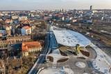 Międzynarodowy Dworzec Autobusowy w Katowicach na zdjęciach z drona. Tak wygląda centrum przesiadkowe Sądowa - nowy dworzec w Katowicach