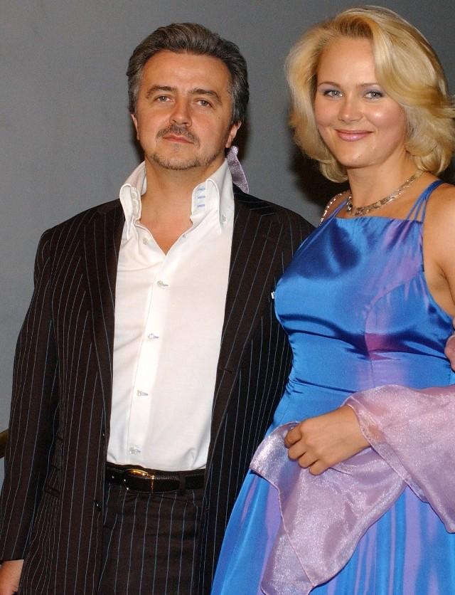 Anna Samusionek z obecnym mężem Krzysztofem