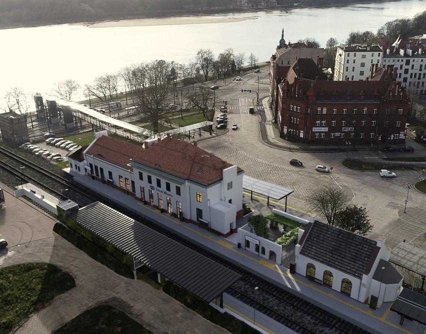 Tak miałyby wyglądać po remoncie dworce Toruń Miasto i Toruń...