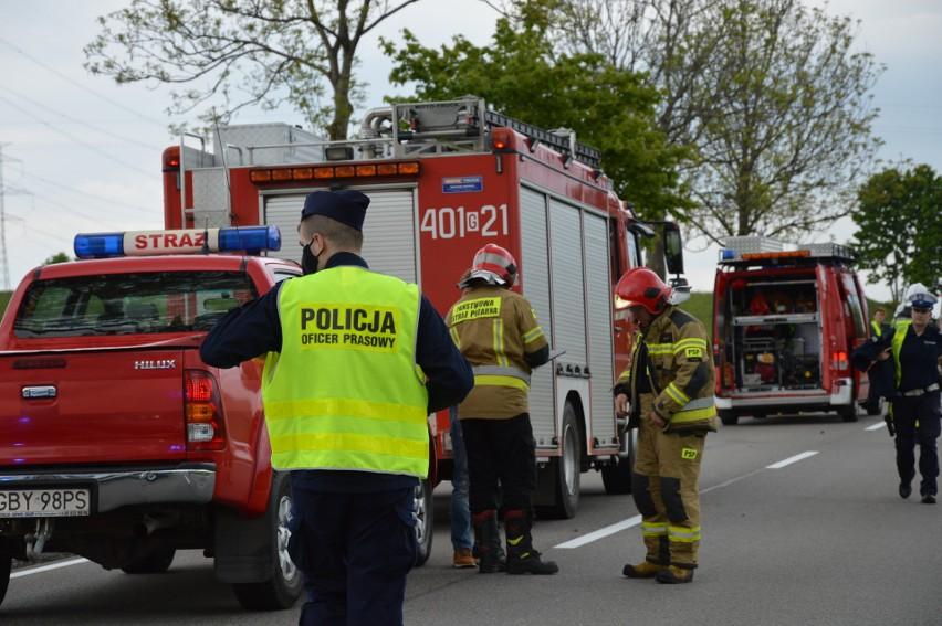 Wypadek na DK 20 koło Wygody. 30-latka straciła prawo jazdy,...