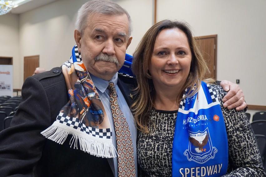 Inicjator turnieju Piotr Patora i Joanna Skrzydlewska, która zawsze wspiera zawody młodzieży