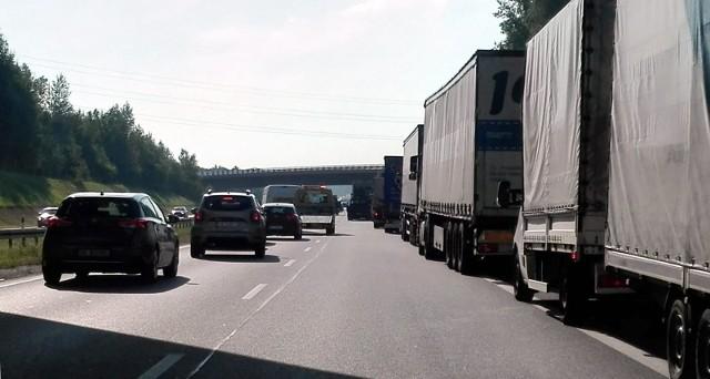 Korek na autostradzie A4. Zdjęcie ilustracyjne.