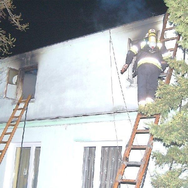 Paliło się poddasze domu przy ulicy  Narutowicza
