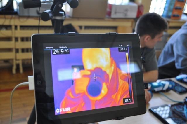 Nasz reporter widziany okiem kamery termowizyjnej
