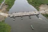 Komunikacja. Wisła przybrała. Nie można było uruchomić pontonowego mostu Sierosławice-Świniary. Czy uda się nim przejechać we wtorek?