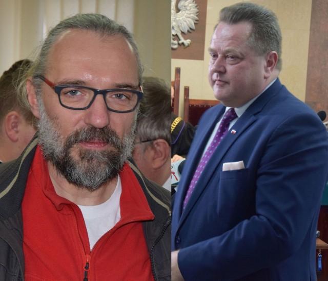 Mateusz Kijowski - lider KOD i J. Zieliński mają całkowicie odmienną oceną tego, co stało się w suwalskim archiwum 4 marca.