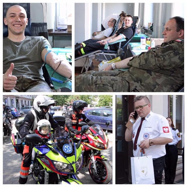 """Podczas akcji """"Twoja krew - Moje życie"""" 207 osób podzieliło się bezcennym darem jakim jest krew! Organizatorem przedsięwzięcia był Krzysztof Misiewicz, ratownik medyczny. Patronem medialnym """"Gazeta Pomorska""""."""