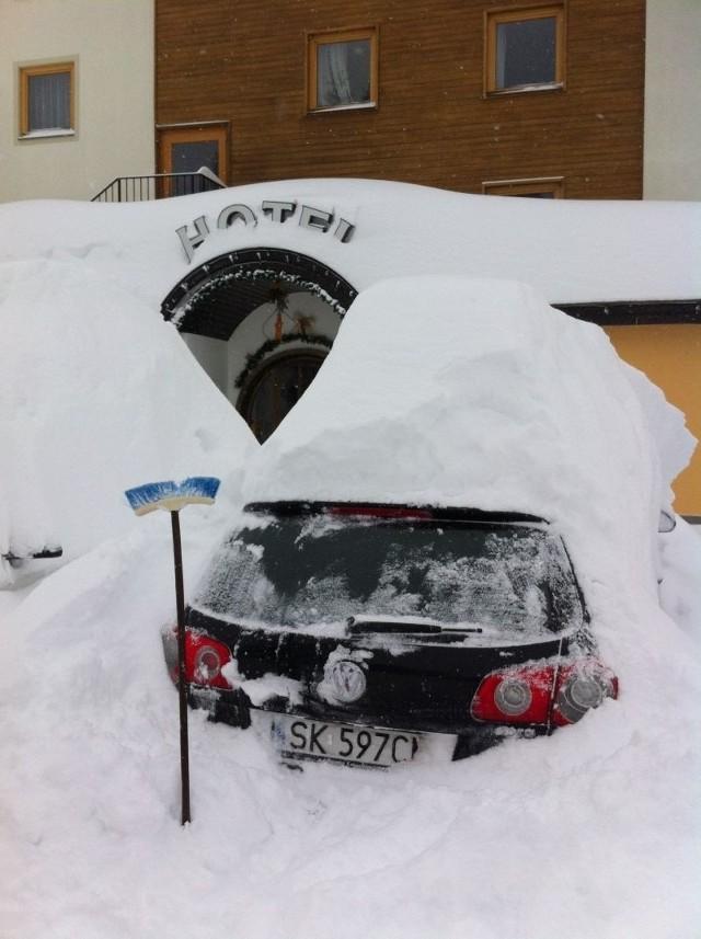 Turyści ze Śląska uwięzieni przez śnieg