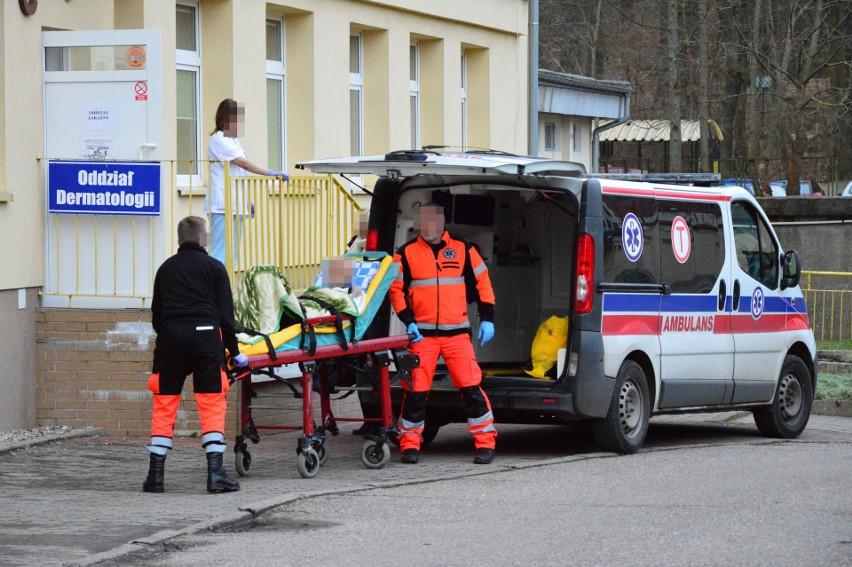 Oddział C w Wojewódzkim Szpitalu w Koszalinie, na którym obecnie znajduje się oddział zakaźny