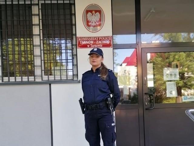 Starsza posterunkowa Kasia Jemioło z komisariatu Tarnów-Zachód w policji pracuje od dwóch lat