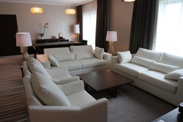 Apartament prezydencki w DoubleTree by Hilton pozwala organizować mini-konferencje i wypoczynek dla kilku osób