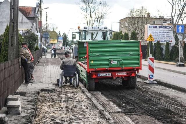 Remont ulicy Grunwaldzkiej w Plewiskach potrwa siedem tygodni. Kierowców czekają utrudnienia