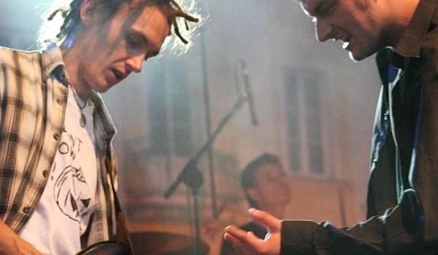 """Sebastian Kozłowski (z lewej) razem z Krzysztofem Gorczakiem grali w wysoko ocenianym zespole Devil Blues. Czy spotkają się podczas nagrania płyty """"my truth""""?"""