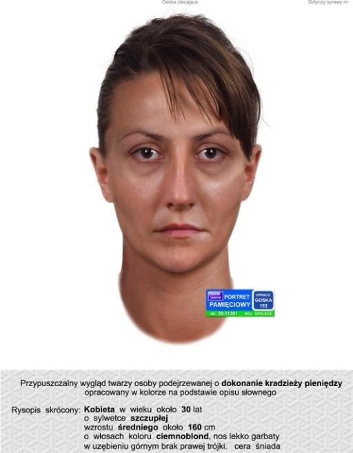 Tak wygląda kobieta podejrzana o kradzież w Opolu.