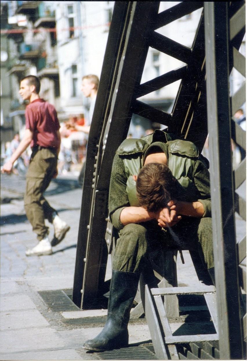 Wrocław 11-07-1997. Ulica św. Jadwigi, most Młyński