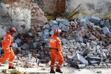 Zawaliła się kamienica w Bielsku-Białej. Ratownicy kilka godzina przeszukiwali gruzy. Nikogo nie znaleziono w rumowisku