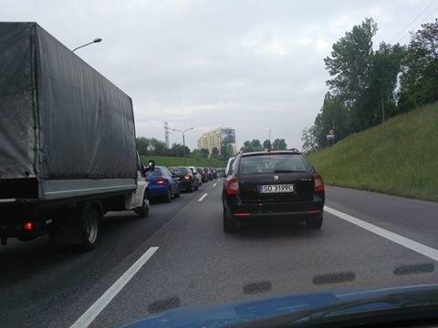 DK 86 na Katowice ślimacze tempo - informuje Kamila Klimek-Marszałek