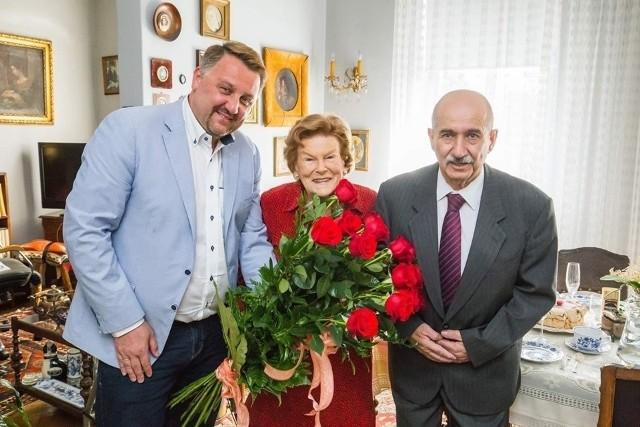 Rok temu solenizantkę odwiedzili m.in. prezydent Jarosław Klimaszewski i wiceprzewodniczący rady Jacek Krywult