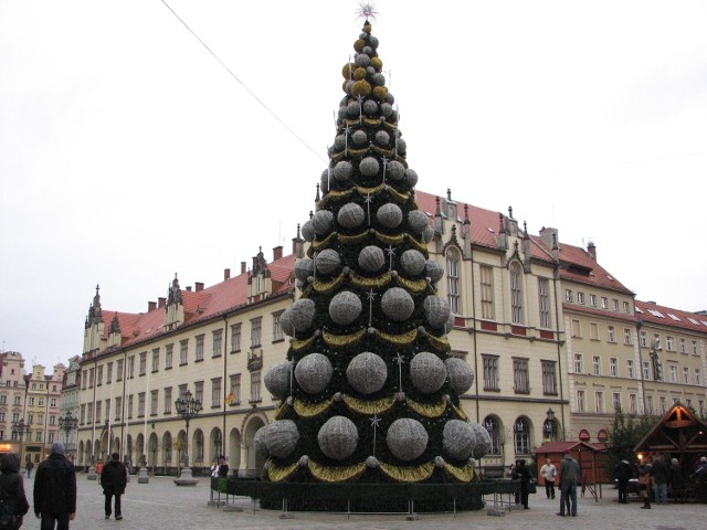 Choinka i świąteczny wystrój we Wrocławiu