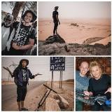 Podlasianin Tomasz Jakimiuk od dwóch miesięcy przemierza Afrykę na hulajnodze. Podróżnika wspiera Martyna Wojciechowska (ZDJĘCIA)