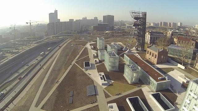 Katowice z lotu ptaka okiem kamery drona