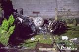 Dzbenin. Policyjny pościg zakończył się śmiertelnym wypadkiem (zdjęcia)
