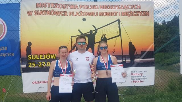 Wiktoria Muszczek, Anna Tylki i trener Łukasz Zieliński