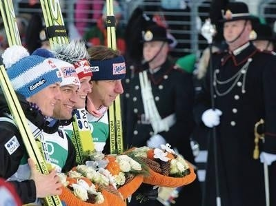 Mistrzowie świata: Gregor Schlierenzauer, Andreas Kofler, Thomas Morgenstern i Martin Koch Fot. PAP/EPA/BARBARA GINDL