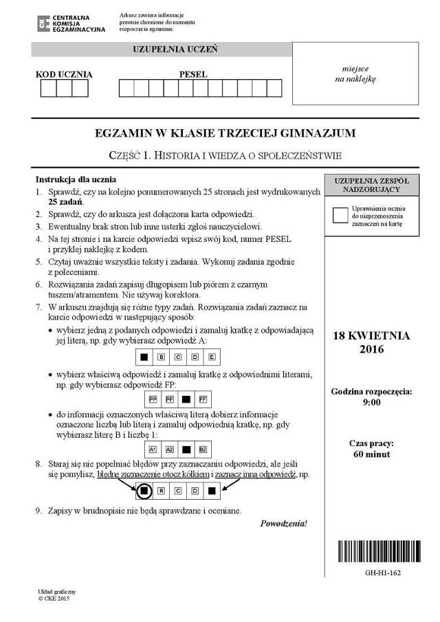 Egzamin gimnazjalny 2017: Odpowiedzi - część humanistyczna [ARKUSZ CKE, PYTANIA, ROZWIĄZANIA]