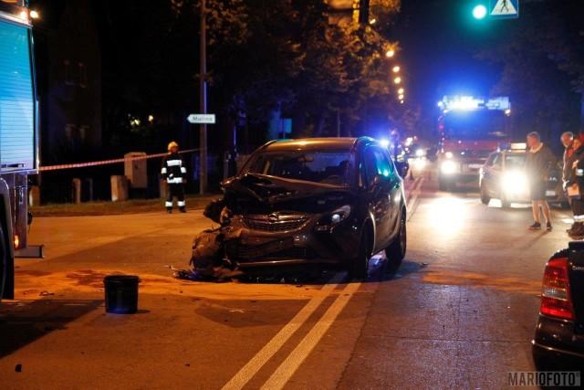 Wypadek na ulicy Strzeleckiej w Opolu.