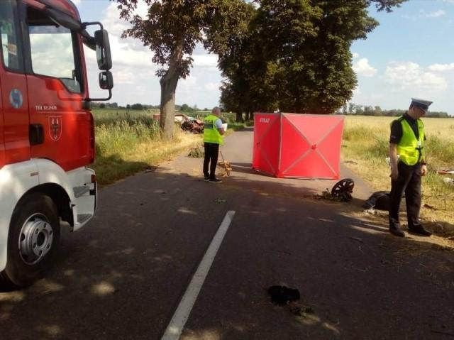 W wypadku w Nininie zginął rowerzysta.Przejdź do kolejnego zdjęcia --->