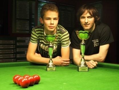 Piotr Bujny (z lewej) i Michał Soliński rozegrali ciekawy finał.