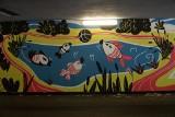 Poznaniacy namalowali mural na Golęcinie. Malowidło nie wszystkim przypadło do gustu