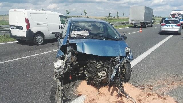 Wypadek za zjazdem Łozina